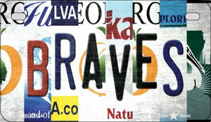 Braves Strip Art Wholesale Novelty Metal Motorcycle Plate MP-13184