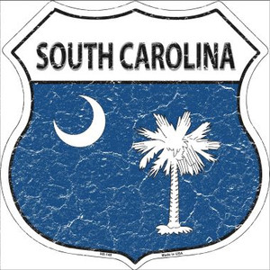 South Carolina State Flag Highway Shield Wholesale Metal Sign