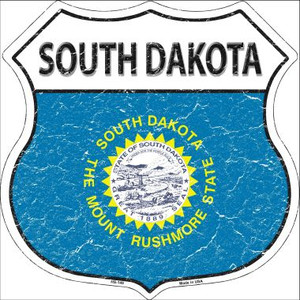 South Dakota State Flag Highway Shield Wholesale Metal Sign