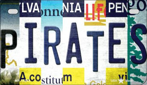 Pirates Strip Art Wholesale Novelty Metal Motorcycle Plate MP-13203