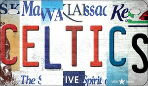 Celtics Strip Art Wholesale Novelty Metal Motorcycle Plate MP-13213