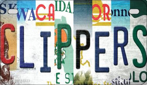 Clippers Strip Art Wholesale Novelty Metal Motorcycle Plate MP-13223