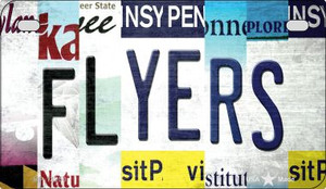 Flyers Strip Art Wholesale Novelty Metal Motorcycle Plate MP-13250