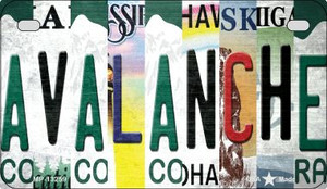Avalanche Strip Art Wholesale Novelty Metal Motorcycle Plate MP-13259