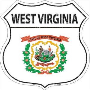 West Virginia State Flag Highway Shield Wholesale Metal Sign