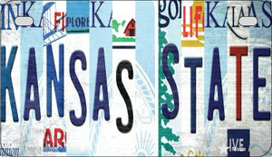 Kansas State Strip Art Wholesale Novelty Metal Motorcycle Plate MP-13281