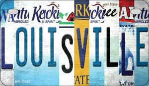 Louisville Strip Art Wholesale Novelty Metal Motorcycle Plate MP-13283