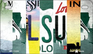 LSU Strip Art Wholesale Novelty Metal Motorcycle Plate MP-13284