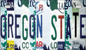 Oregon State Strip Art Wholesale Novelty Metal Motorcycle Plate MP-13295