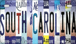 South Carolina Strip Art Wholesale Novelty Metal Motorcycle Plate MP-13297
