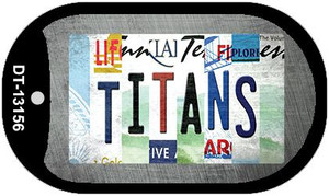 Titans Strip Art Wholesale Novelty Metal Dog Tag Necklace DT-13156