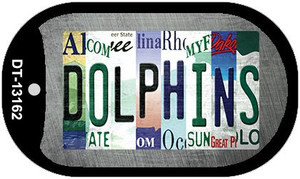 Dolphins Strip Art Wholesale Novelty Metal Dog Tag Necklace DT-13162