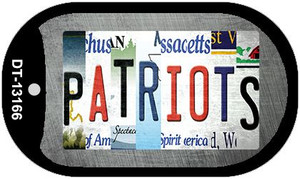 Patriots Strip Art Wholesale Novelty Metal Dog Tag Necklace DT-13166