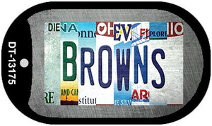 Browns Strip Art Wholesale Novelty Metal Dog Tag Necklace DT-13175
