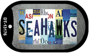 Seahawks Strip Art Wholesale Novelty Metal Dog Tag Necklace DT-13176