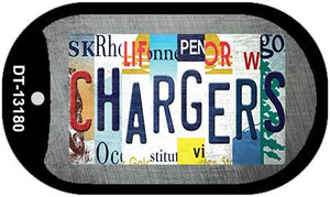 Chargers Strip Art Wholesale Novelty Metal Dog Tag Necklace DT-13180
