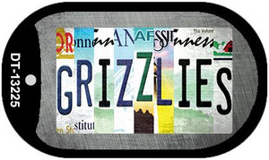 Grizzlies Strip Art Wholesale Novelty Metal Dog Tag Necklace DT-13225