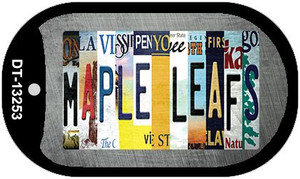 Maple Leafs Strip Art Wholesale Novelty Metal Dog Tag Necklace DT-13253