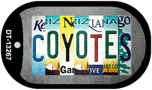 Coyotes Strip Art Wholesale Novelty Metal Dog Tag Necklace DT-13267