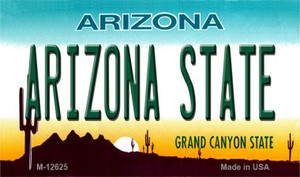 Arizona State Wholesale Novelty Metal Magnet M-12625