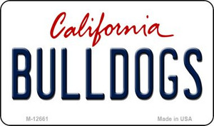 Bulldogs Wholesale Novelty Metal Magnet M-12661
