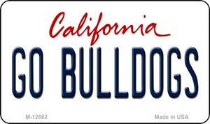 Go Bulldogs Wholesale Novelty Metal Magnet M-12662