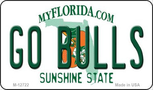 Go Bulls Wholesale Novelty Metal Magnet M-12722