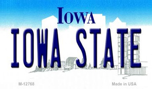 Iowa State Wholesale Novelty Metal Magnet M-12768