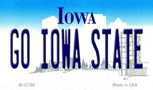 Go Iowa State Wholesale Novelty Metal Magnet M-12769