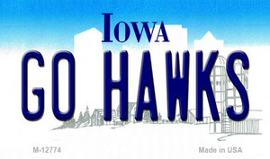 Go Hawks Wholesale Novelty Metal Magnet M-12774