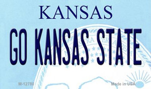 Go Kansas State Wholesale Novelty Metal Magnet M-12780