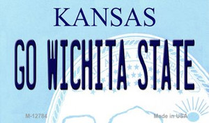 Go Wichita State Wholesale Novelty Metal Magnet M-12784