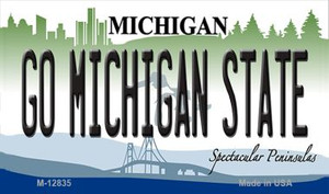 Go Michigan State Wholesale Novelty Metal Magnet M-12835