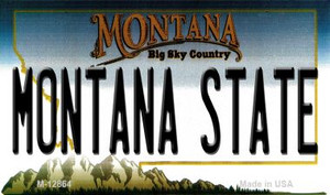 Montana State Wholesale Novelty Metal Magnet M-12864