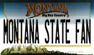 Montana State Fan Wholesale Novelty Metal Magnet M-12866