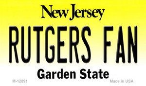 Rutgers Fan Wholesale Novelty Metal Magnet M-12891