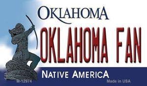 Oklahoma Fan Wholesale Novelty Metal Magnet M-12974