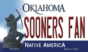 Sooners Fan Wholesale Novelty Metal Magnet M-12976