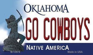 Go Cowboys Wholesale Novelty Metal Magnet M-12979
