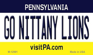 Go Nittany Lions Wholesale Novelty Metal Magnet M-12991