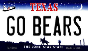 Go Bears Wholesale Novelty Metal Magnet M-13036