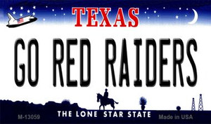 Go Red Raiders Wholesale Novelty Metal Magnet M-13059