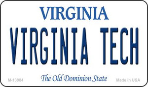 Virginia Tech Wholesale Novelty Metal Magnet M-13084