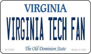 Virginia Tech Fan Wholesale Novelty Metal Magnet M-13086