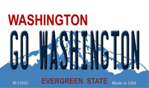 Go Washington Wholesale Novelty Metal Magnet M-13093