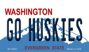 Go Huskies Wholesale Novelty Metal Magnet M-13095