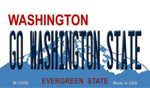 Go Washington State Wholesale Novelty Metal Magnet M-13098