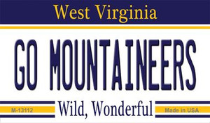 Go Mountaineers Wholesale Novelty Metal Magnet M-13112
