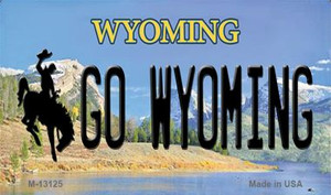 Go Wyoming Wholesale Novelty Metal Magnet M-13125