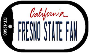 Fresno State Fan Wholesale Novelty Metal Dog Tag Necklace DT-12660